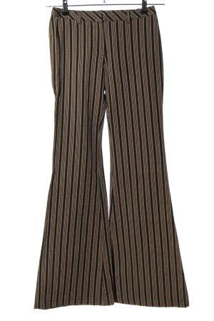 Max & Co. Schlaghose braun-schwarz Streifenmuster klassischer Stil
