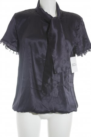Max & Co. Seidenbluse dunkelviolett Business-Look