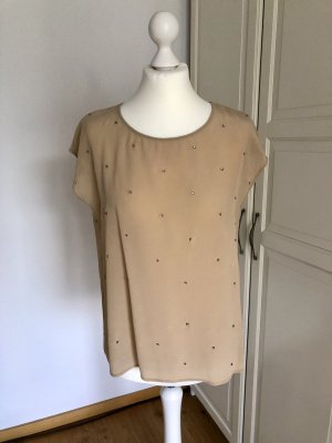Max&Co. Shirt Bluse Beige Strass 38