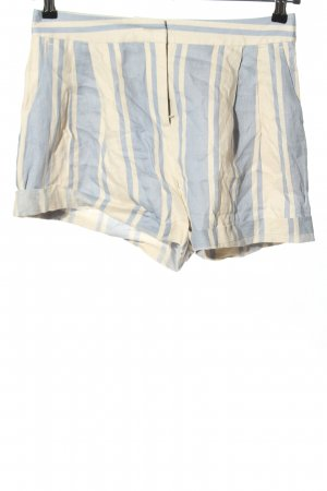 Max & Co. Short wolwit-blauw gestreept patroon casual uitstraling