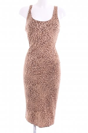 Max & Co. Stretchkleid braun-nude Leomuster extravaganter Stil