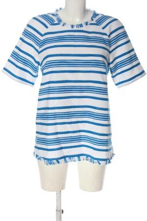 Max & Co. Camicia maglia bianco-blu motivo a righe elegante