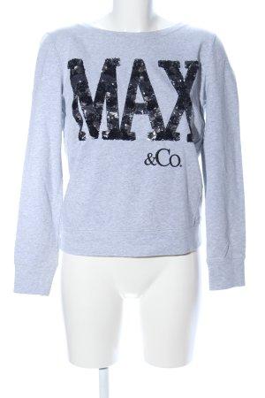 Max & Co. Sweatshirt hellgrau-schwarz meliert Casual-Look