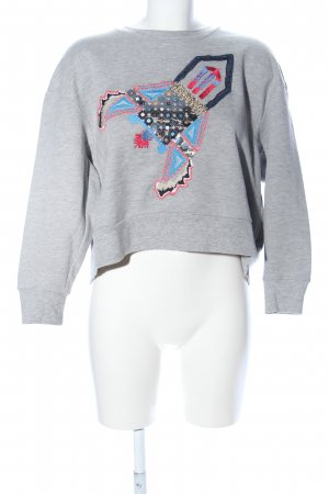 Max & Co. Sweatshirt hellgrau meliert Casual-Look
