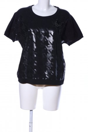 Max & Co. T-Shirt schwarz grafisches Muster Casual-Look