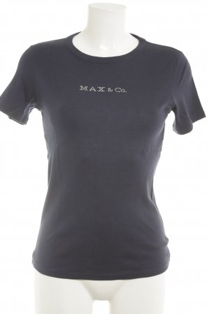 Max & Co. T-Shirt dunkelblau Casual-Look