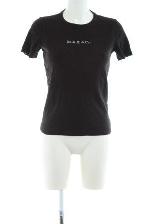 Max & Co. T-Shirt schwarz Casual-Look