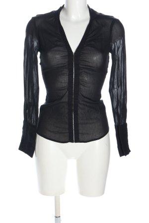 Max & Co. Transparenz-Bluse schwarz Casual-Look