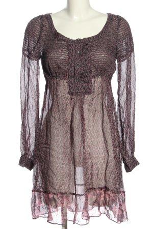 Max & Co. Sukienka tunika brązowy-różowy Na całej powierzchni W stylu casual