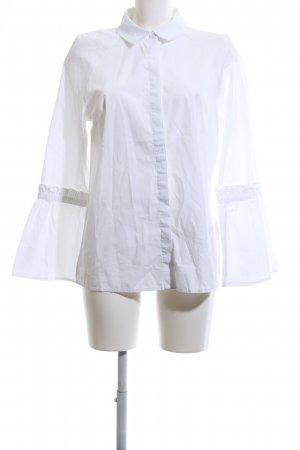 MAX Blouse à volants blanc style d'affaires
