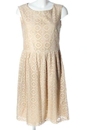 Max Mara A-Linien Kleid wollweiß grafisches Muster Elegant