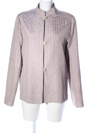 Max Mara Blouse Jacket natural white-pink striped pattern casual look