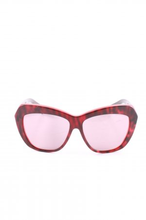 Max Mara Brille rot Leomuster Casual-Look
