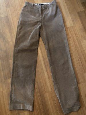 Max Mara Pantalone di velluto a coste color cammello-beige