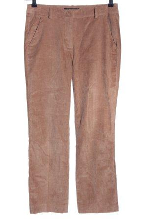 Max Mara Pantalon en velours côtelé rose chair style décontracté