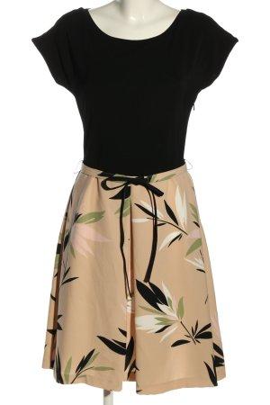 Max Mara Cut-Out-Kleid schwarz-wollweiß Blumenmuster Casual-Look