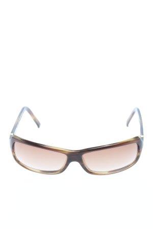 Max Mara Occhiale da sole spigoloso marrone stile casual