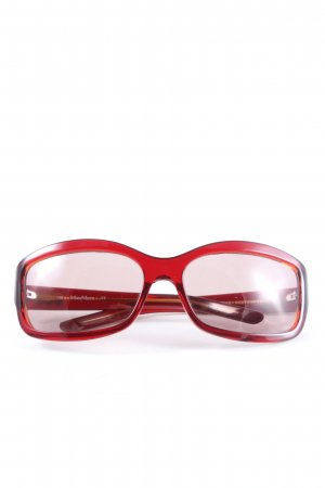 Max Mara eckige Sonnenbrille rot Business-Look