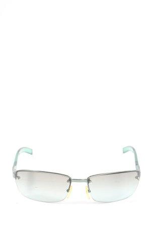 Max Mara Angular Shaped Sunglasses turquoise-light grey casual look