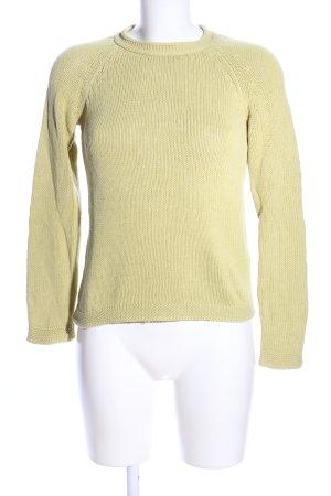 Max Mara Pullover a maglia grossa giallo pallido stile casual