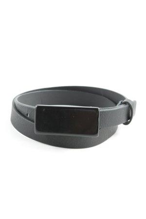Max Mara Cinturón de cuero de imitación negro