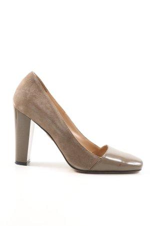 Max Mara High Heels braun Business-Look