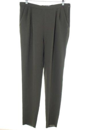Max Mara High-Waist Hose dunkelgrün Business-Look