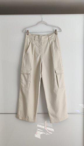 Max Mara Pantalone jersey grigio chiaro-crema