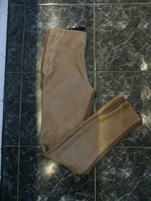 Max Mara Hose Gr. 36- 38 Stretch Hose Ziegen Leder, Braun Luxus Pur