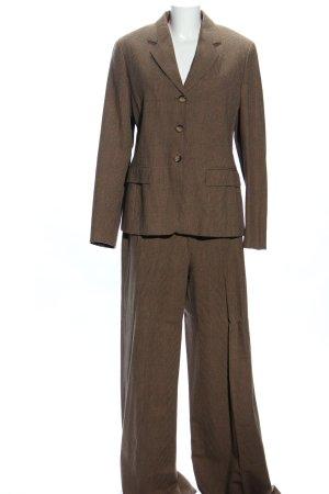Max Mara Tailleur pantalone bronzo motivo a quadri stile professionale