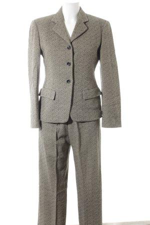 Max Mara Trouser Suit black-beige flecked retro look