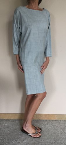 Max Mara Kimono Kleid Gr.36 100% leichte Virgin Wool hellgrau