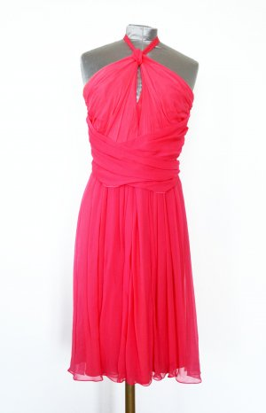 Max Mara Halter Dress magenta silk