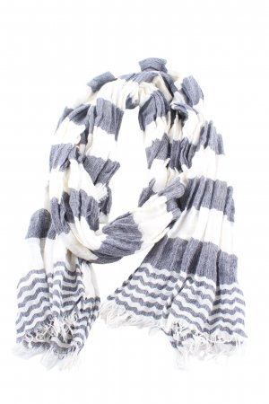 Max Mara Crinkle Scarf white-blue striped pattern casual look