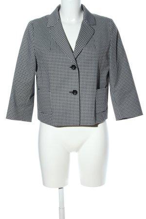 Max Mara Kurz-Blazer weiß-schwarz grafisches Muster Casual-Look