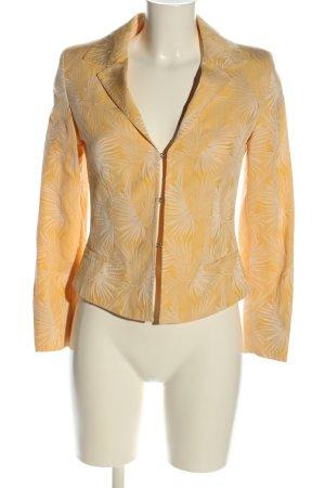 Max Mara Blazer corto arancione chiaro-bianco sporco stampa integrale