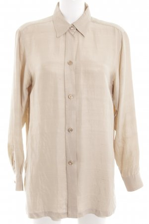 Max Mara Langarm-Bluse creme Business-Look