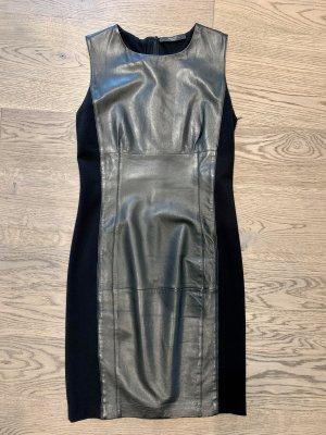 Max Mara Vestido de cuero negro Cuero