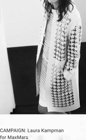 Max Mara Manteau en cuir blanc-rose chair cuir