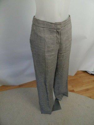 Max Mara Pantalone di lino marrone scuro-bianco Lino