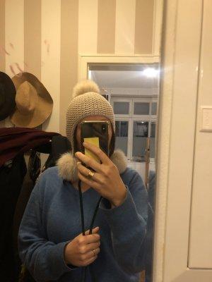 Max Mara Sombrero de piel blanco puro-crema
