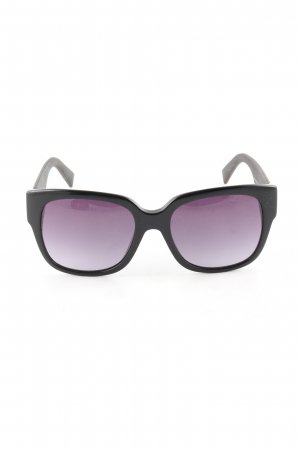 Max Mara Oval Sunglasses black-lilac color gradient business style