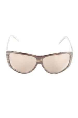Max Mara Gafas de sol ovaladas marrón oscuro look casual