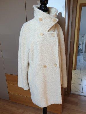 Max Mara Płaszcz oversize w kolorze białej wełny