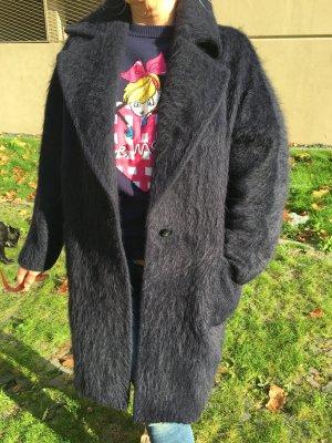 Max Mara Oversized Coat dark blue alpaca wool