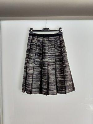 Max Mara Jupe à plis blanc-noir