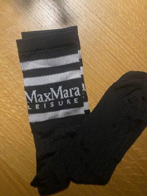 Max Mara Socke schwarz weiß