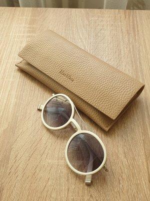 Max Mara Okrągłe okulary przeciwsłoneczne biały