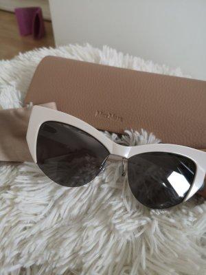 Max Mara Angular Shaped Sunglasses natural white-cream