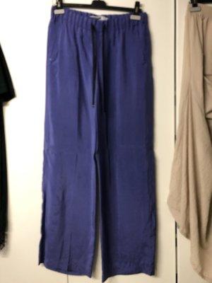 Max Mara Palazzo Pants blue violet copper rayon